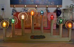 Vintage NOMA 8 LIGHT CANDOLIER HALOS C7 BULBS CHRISTMAS WINDOW CANDLES + BOX | eBay