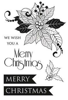 Kaisercraft - Christmas Carol Collection - Clear Acrylic Stamp at Scrapbook.com