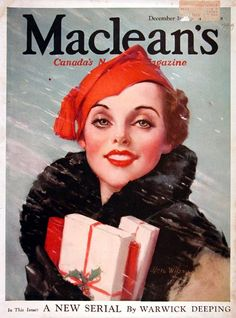 Maclean's Magazine Covers | 1933 Maclean's Magazine Cover - Christmas Shopping