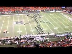 ▶ Marching Band forms Giant FootBall - YouTube. One of the coolest things I have ever seen on a football field!