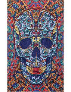 Sunshine Joy® 3D Skull Tapestry - 60X90 - Beach Sheet - Hanging Wall Art -