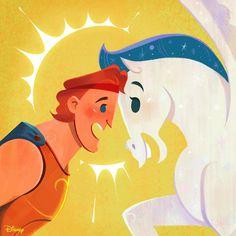 Hercules and his mane. Walt Disney, Disney Play, Disney Films, Disney And Dreamworks, Disney Magic, Disney Characters, Chibi Disney, Disney Fairies, Disney Princesses