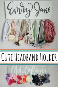 I love this headband holder (baby, teen, or anyone!) I could DIY headband holders, but this one is inexpensive on Etsy, and would make for cute nursery name décor! #ad