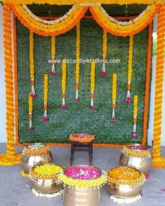 Decor by Krishna AP/ Telangana/ Karnataka/ Tamilnadu/ USA/Australia Wedding Backdrop Design, Desi Wedding Decor, Wedding Hall Decorations, Marriage Decoration, Backdrop Decorations, Flower Decorations, Backdrops, Housewarming Decorations, Traditional Wedding Decor