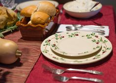 Cranberry Dinnerware Sets the Holiday Table. Emerson Creek Pottery | Made in the USA Image by 434 Marketing | Lynchburg VA