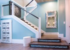 95 Ingenious Stairway Design Ideas for Your Staircase Remodel Staircase Remodel, Staircase Railings, Staircase Design, Stairways, Stair Risers, House Staircase, Railing Design, Banisters, Exterior Stairs