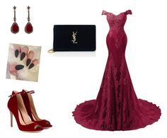 """""""Untitled #10"""" by russulzr ❤ liked on Polyvore featuring Gianvito Rossi, Annoushka and Yves Saint Laurent"""