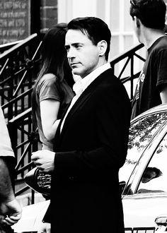 "Robert Downey Jr. filming ""The Judge"" in Massachusetts, 2013."