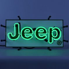 Licensed Jeep Green Junior Car Show Car Dealer Neon Light Sign by Neon Tube Lights, Green Led Lights, Neon Light Signs, Neon Aesthetic, Aesthetic Rooms, Photo Wall Collage, Picture Wall, Canvas Collage, Neon Sign Bedroom