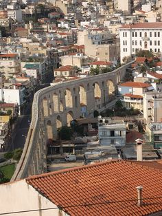 Kamares or the Aqueduct. 60 arches, 52 meters high! #Kavala #Greece http://www.house2book.com