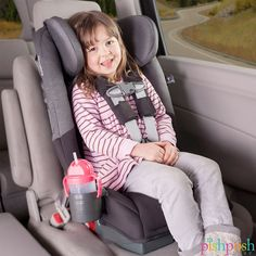 """The incredible, innovative @dionous Radian RXT car seat takes your child all the way from rear-facing at 5 lbs, all the way to booster till 120 lbs!!! And - at just 17"""" wide, you can fit 3 in a standard car backseat. Available in 6 colors (shown: Essex) - priced at $359.99.  http://www.pishposhbaby.com/diono-radian-rxt-2016.html"""