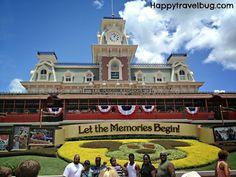 Entrance to Magic Kingdom, Disney World