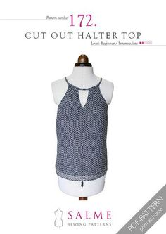 Cut Out Halter Top Digital Sewing Pattern – Salme Sewing Patterns