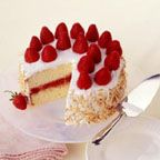 strawberry coconut cake... simple ingredients and delicious!