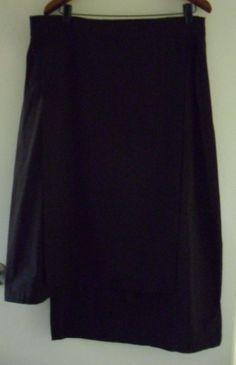 TS 14 + black skirt  size 18  - stretch waist - length 83 cm