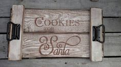 Cookies for Santa pallet Christmas serving tray by GrayDesigns34