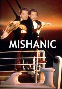 supernatural titanic castiel kate winslet Misha Collins leo dicaprio mishapocalypse