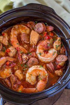 Crock Pot Jambalaya TODAY Com. Slow Cooker Jambalaya Recipe SimplyRecipes Com. Easy Slow Cooker Chicken And Shrimp Jambalaya Sarah's . Home and Family Crockpot Dishes, Crock Pot Cooking, Cooking Recipes, Crockpot Meals, Cooking Ideas, Dinner Crockpot, Crock Pots, Cooking Food, Cajun Recipes