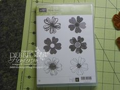 PANSY PUNCH and STAMP SET LINING UP FLOWERS ... Debbie's Designs: Tuesday Tips or Techniques!