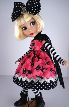 """Cats"" for Tonner Patience, Halloween. *Little Charmers Doll Designs #DressbyLittleCharmersDollDesigns"