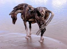 I think this may be my favourite. (http://abbysinyem.blogspot.co.uk/2010/07/tree-branch-horse-sculptures.html)