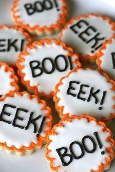 Halloween Cookies - ideal for a children's Halloween party.