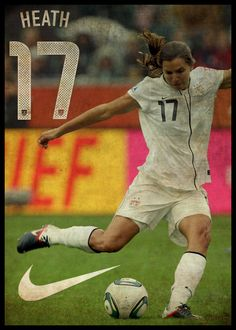Tobin Heath. My favorite women's soccer player. She is so talented.