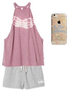 """Me in the summer"" by aeseymour-1 ❤ liked on Polyvore featuring RVCA and Agent 18"