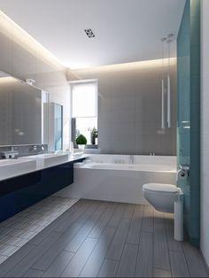 luminaire salle de bains éclairage indirect toilettes et baignoire