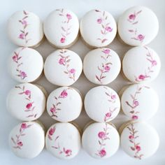 Hand painted Macarons