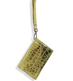 Gold Fashion Cell Phone Holder Wristlet Wallet