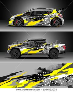 Car decal wrap, Truck and cargo van design vector. Graphic abstract stripe racing background kit designs for wrap vehicle, race car, rally, adventure and livery Car Stickers, Car Decals, Van Design, Cargo Van, Car Wrap, Courses, Chevy Trucks, Stunts, Custom Cars