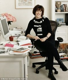 Writer Nora Ephron in her NYC home office. Of all the pins I have contributed to Pinterest, this is the most often repinned. RIP Nora Ephron. You will be missed.