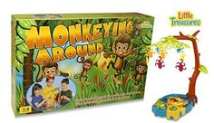 Monkeying Around 3D Board Game 1-4 Players Fun Family Game for Boys and Girls by Little Treasures ** Check out the image by visiting the link.