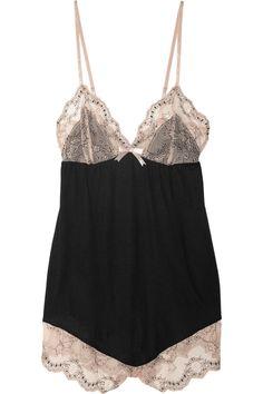 Eberjey|Orianna lace-trimmed jersey playsuit|NET-A-PORTER.COM