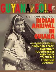 Guyana Cultural Association of New York Inc. Newsletters - Indian Arrival in Guyana