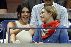 (L-R) Models Kendall Jenner and Gigi Hadid attend the Women's Singles Quarterfinals match between Serena Williams of the United States and Venus Williams of the United States on Day Nine of the 2015 US Open at the USTA Billie Jean King National Tennis Center on September 8, 2015 in the Flushing neighborhood of the Queens borough of New York City.