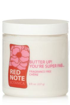 FRAGRANCE-FREE CHERIE! - Absolutely no fragrance or colorants.  Beautiful natural mango and cocoa butter impart a deliciously subtle chocolate and tropical fresh scent.  http://rednotebotanica.com/product-category/fragrance-free-cherie/