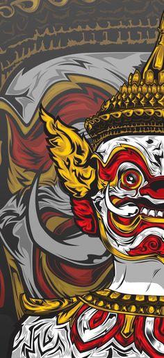 Demon Guardian on Behance Camo Wallpaper, Dark Wallpaper Iphone, Graffiti Wallpaper, Galaxy Wallpaper, Japanese Tattoo Art, Japanese Art, Khmer Tattoo, Cambodian Art, Thailand Art