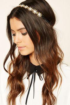 Floral Rhinestone Headwrap