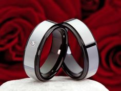 COI Tungsten Carbide Ring With Black Plating - TG3476