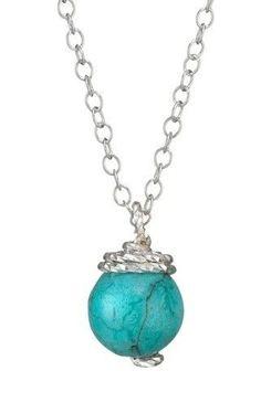 Classic Round Turquoise Pendant Necklace