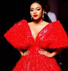 """Nomzamo Mbatha 🇿🇦 on Instagram: """"In Honour Of World AIDS Day #RememberThem ❤️ Styled By: @iamhdiddy  Dress: @radmilalolly 📷: @pixelkollective"""""""