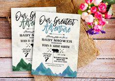greatest adventure baby shower invitation greatest adventure