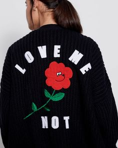 Lazy Oaf Love Me Not Cardigan - Everything