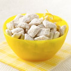 """Lemon Buddies - Chex® Party Mix    """"Stir up a delicious snack that is bursting with a bright lemony flavor!"""""""