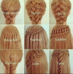 Types of braids!