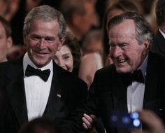 President George W Bush and his father,President George H Bush, I have the deepest respect for these two honorable men....