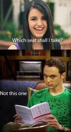 friday which seat should I take jim parsons the big bang theory sheldon cooper