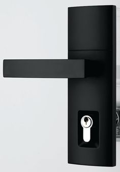 Gainsborough Tri-Lock now available in Matt Black Finish 3 in 1 locking Deadbolt privacy and passage functions combined into one lockset. 60mm backset. & Gainsborough Trilock Contemporary Angular Satin Chrome Leverset ...